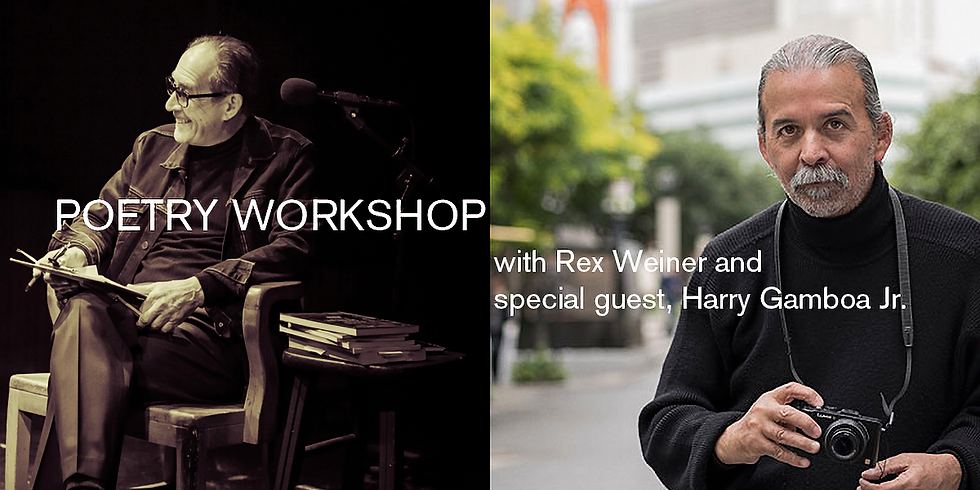 Poetry Workshop with guest Harry Gamboa Jr.