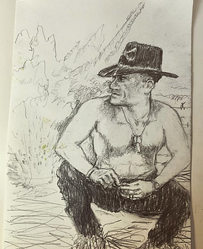 Drawing of Robert Duvall by Damian Roble