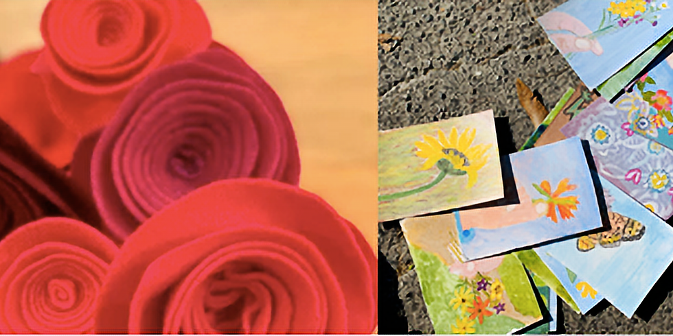 Postmarked With Love - A Card Making and Rose Crafting Workshop for Marked by COVID and Rose River Memorial