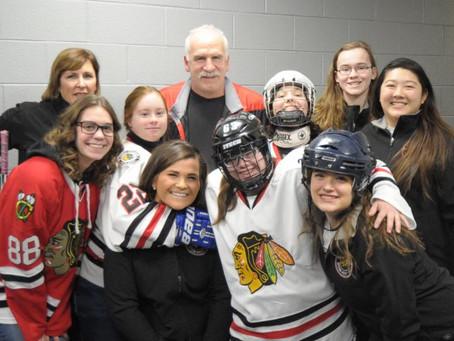 Mayhem's Lisa S. Coaching Chicago Blackhawks Special Hockey