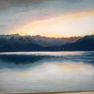 Lakeview, pastel painting Karima Powell