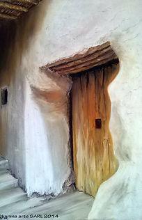 Kasbah Door, pastel painting