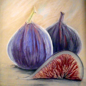 Figs, pastel on paper by Karima Powell