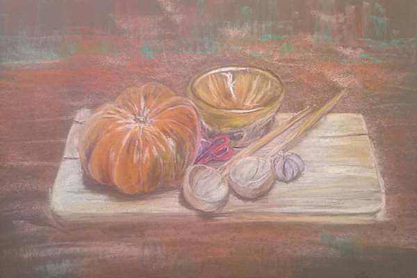Pumpkins and Soup Bowl