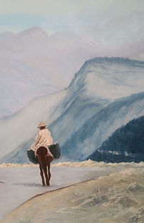 The Road Less Travelled Pastel painting