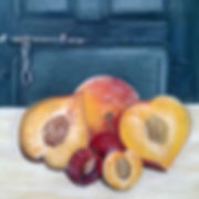 Summer Fruits, pastel on paper