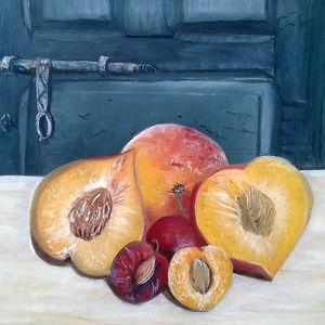 Summer Fruits, pastel on paper