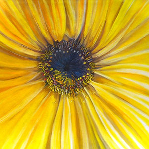 Sunflower, Pastel by Karima Powell