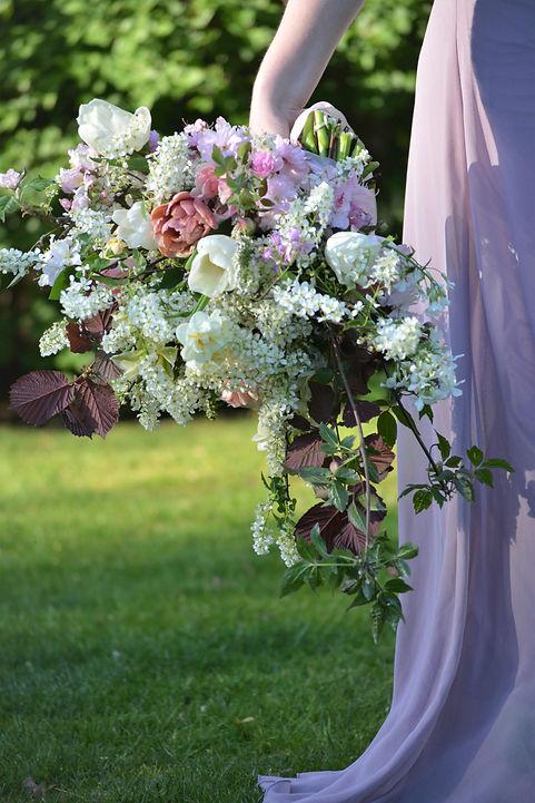 Brautstrauß mit ungespritzten Blumen, Flowerfarm Bremen, Kreativatelier Aufblühen