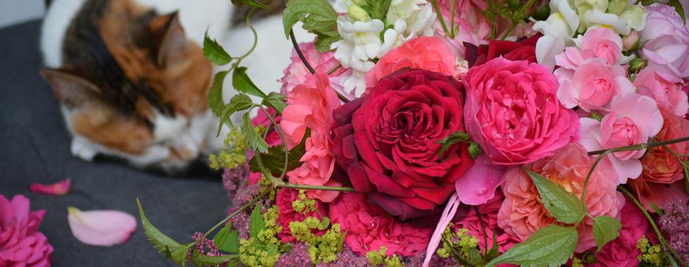 Sommerliches Blumengesteck