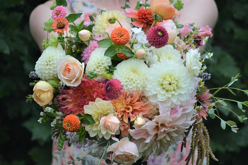 Brautstrauß Herbst ungespritzte Blumen Bremen Hochzeit
