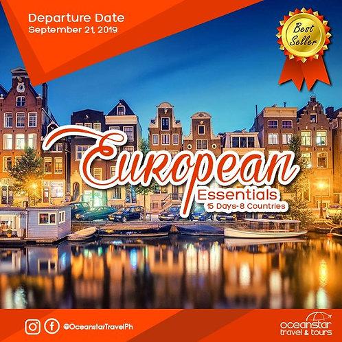 EUROPEAN TOUR PACKAGE (SEPTEMBER 21, 2019)