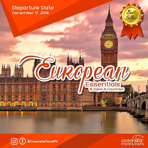 EUROPEAN TOUR PACKAGE (DECEMBER 17, 2019)