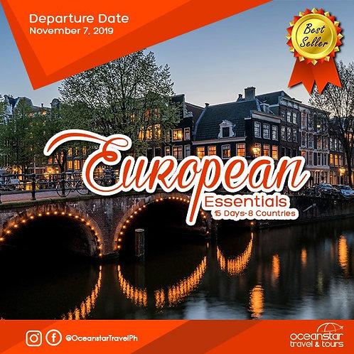 EUROPE TOUR PACKAGE (NOVEMBER 7, 2019)