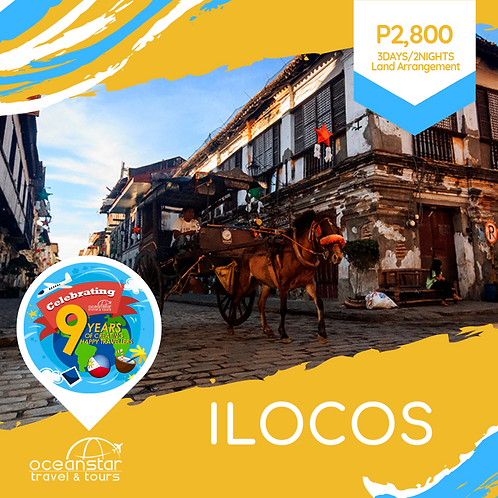 ILOCOS PACKAGE  (3days/2nights)