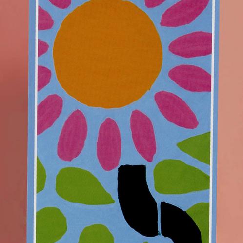 Sunny Pink Daisy Card
