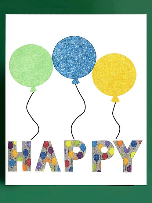 Happy Balloons Card
