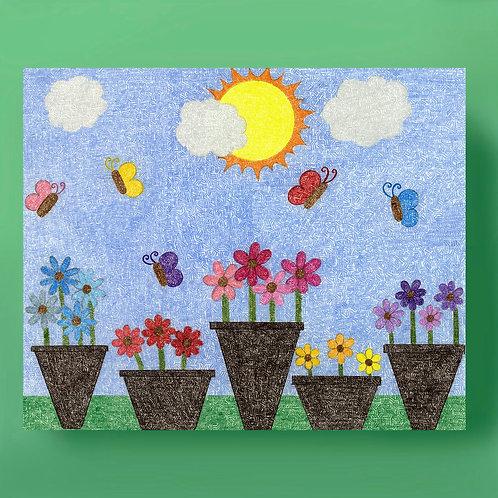 Flowerpots Card