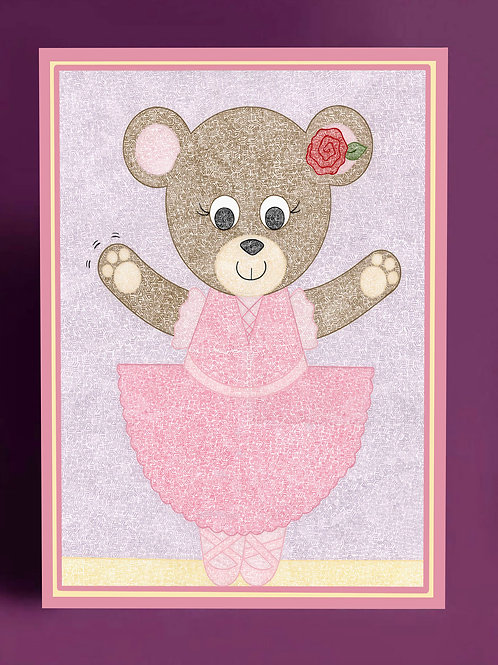 Bear Ballerina Card