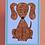 Thumbnail: Brown Puppy Card