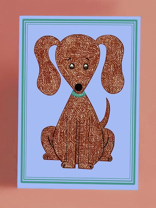 Brown Puppy Card
