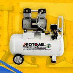 Compressor de Ar Odontológico 2,0HP 50 Litros Isento de Óleo CMO-8/50BR MOTOMIL