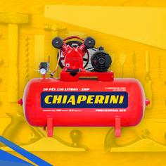 Compressor de Ar Média Pressão Red 10 Pés 140PSI 2HP 110 Litros Trifásico 220/380V - CHIAPERINI-19751