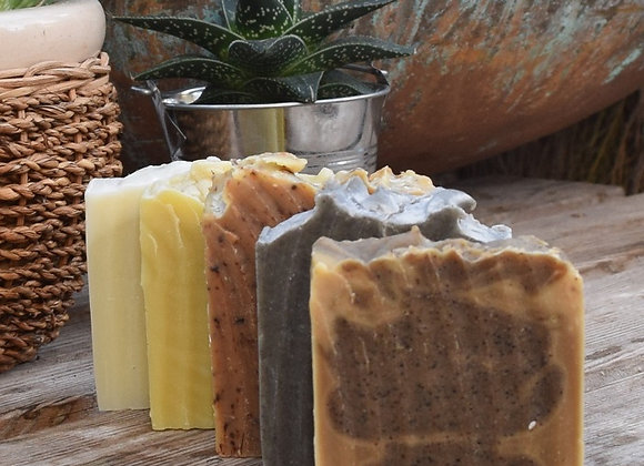Set of 5 Soaps with Soap Dish