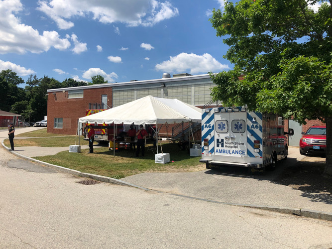 EMT Stationed at Town Meeting