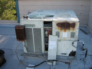 Old Broken Down Air Conditioner