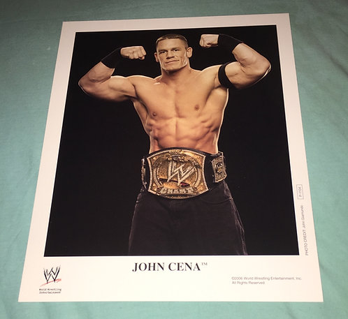 John Cena with Belt WWF/WWE Promo Photo P-1104 (2006)