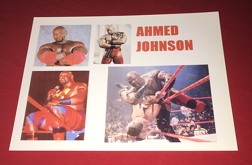 Ahmed Johnson Wrestling Promo Photo