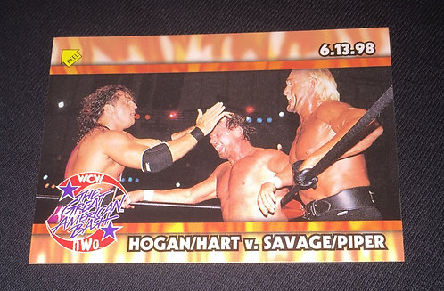 Hogan/Hart -vs- Piper/Savage WCW Bash Wrestling Trading Card