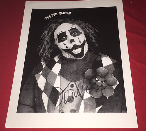 """Doink """"The Evil Clown"""" Autographed Promo Photo"""