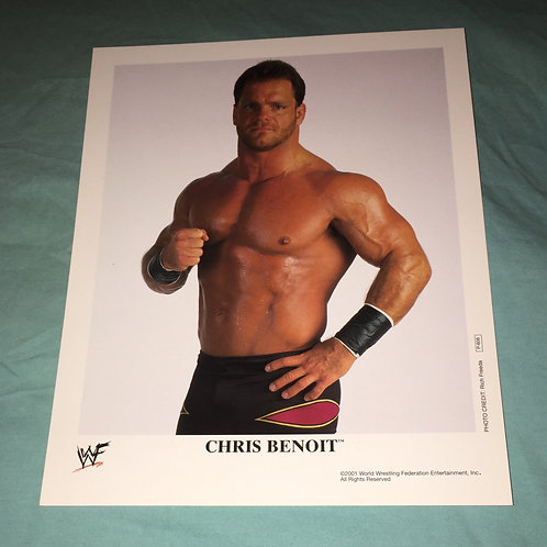 Chris Benoit WWF/WWE Promo Photo P-606 (2001)