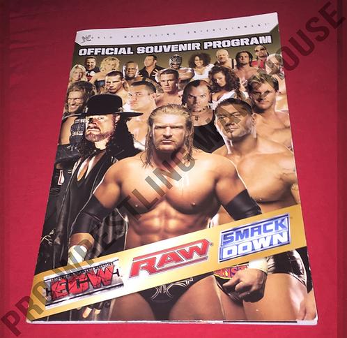 WWE Live Event Wrestling Program - RAW,Smackdown,ECW
