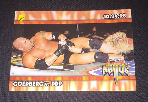 "Goldberg -vs- DDP WCW ""Halloween Havoc"" Wrestling Trading Card"