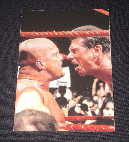 """Stone Cold"" Steve Austin -vs- Vince McMahon WWE Wrestling Card"