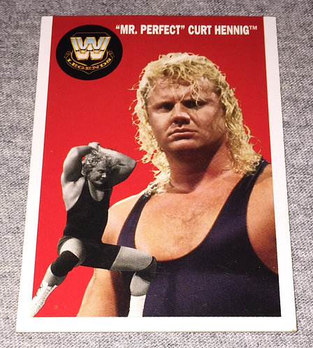 """Mr. Perfect"" Curt Hennig WWE Legends Wrestling Trading Card"