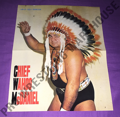 Wahoo McDaniel Vintage Poster from Japan