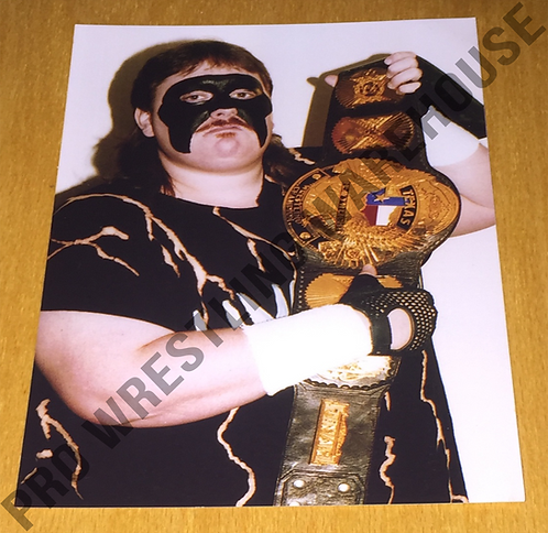 Humongous 4x6 Wrestling Photo - with TASW Belt