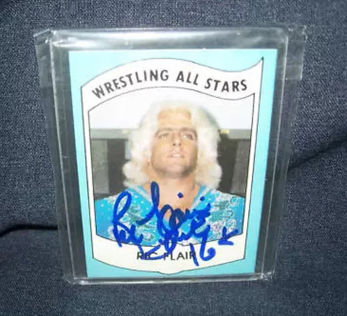 Ric Flair Wrestling All-Stars Autographed Rookie Wrestling Card
