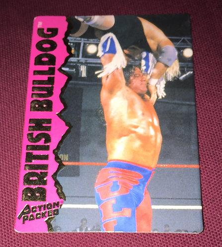 British Bulldog WWF/WWE Action Packed Wrestling Trading Card