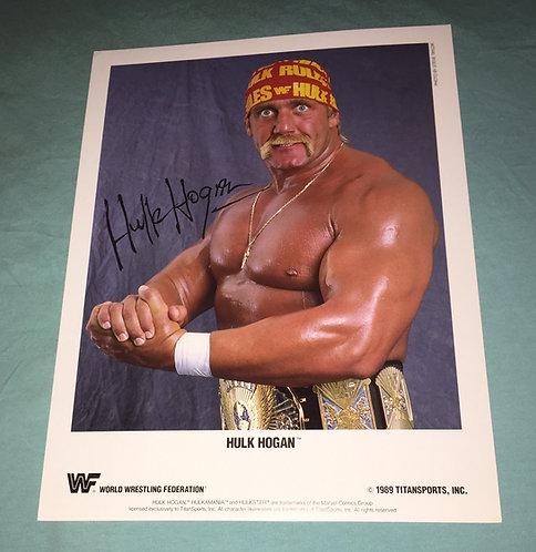 Hulk Hogan WWF/WWE Promo Photo (1989)