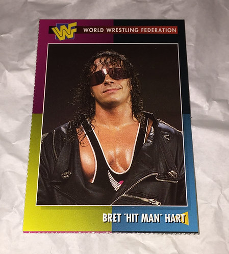"Bret ""HitMan"" Hart WWF/WWE Wrestling Trading Card"
