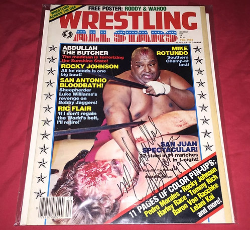 Abdullah The Butcher Autographed Wrestling All-Stars Magazine - February 1984