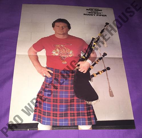 """Rowdy"" Roddy Piper Wrestling Poster - NWA, WWF, WWE"