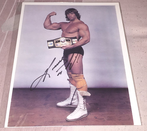 Kerry Von Erich with NWA World Title Autographed Rare WCCW Promo Photo