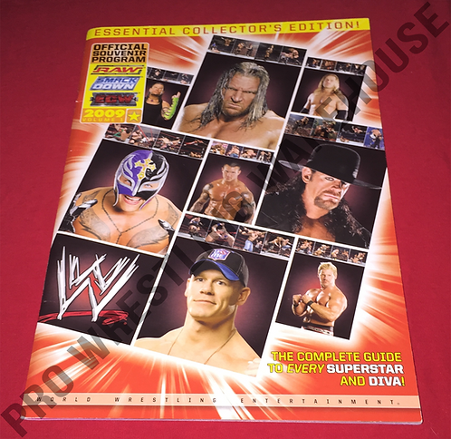 WWE Live Events 2009 Vol. 1 Wrestling Program - Cena,Undertaker,Mysterio,Orton