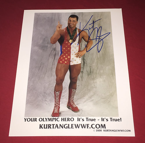 Kurt Angle Autographed 8x10 Promo Photo
